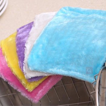 Household Kitchen Microfiber Wood Fiber Cleaning Cloth