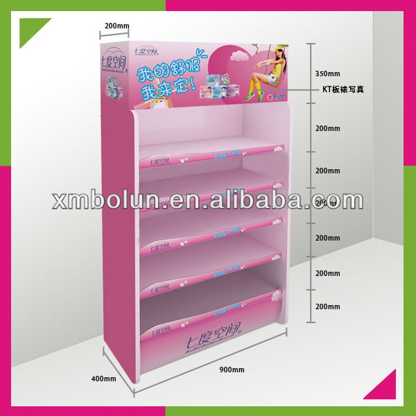 Cardboard promotional shop display furniture for sanitary towel