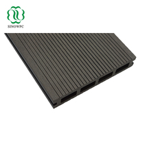 WPC UV-resistant high durability composite deck board/ hollow plastic decking board, black color