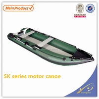 FSBT028 SK Motor Canoe, alibaba china manufacture wholesale inflatable raft fishing boat for sale