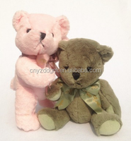 Cute toy animal movable joints plush teddy bear couples for Valentine's day