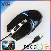 game iron man high quality new customized laser 4 speed dpi key computer usb optical iron man space mouse
