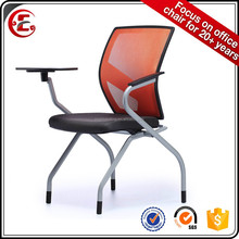 Folded conference chair with perfect curve back and writing table 0801H-27