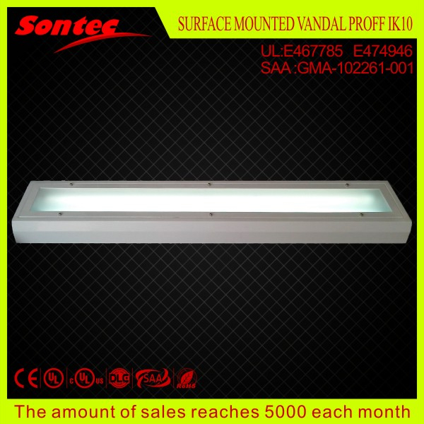 Laser printer factory workshop T8 fluorescent lighting fixture 4ft 2X36W T8 vandal proof light