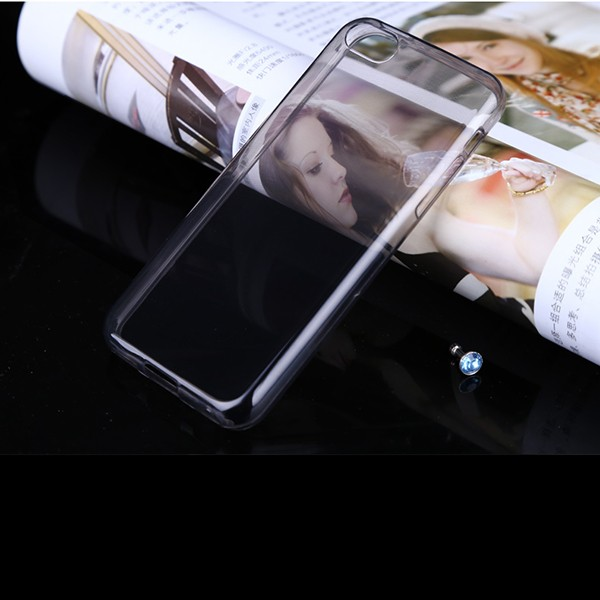 I5C001 Transparent Phone Case for iPhone 5C , 0.6mm Mobile Phone Ultra Thin Soft TPU Cover for iPhone 5C