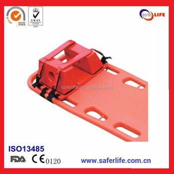 2017With FDA CE ISO emergency folding ambulance Aluminum Safety Belts Straps stretcher with Head Immobilizers