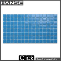 A31 blue tile shell mirror glass mosaic for swimming pool tile