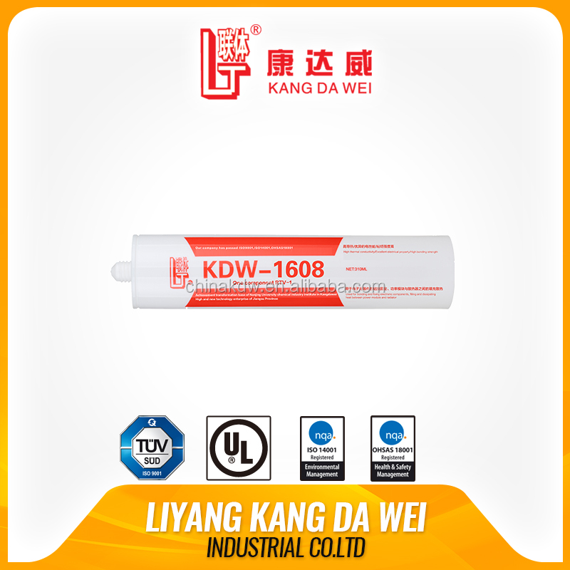 white cement liquid silicone adhesive one-component neutral thermal conductive rubber
