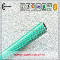 Flexible reinforced braided tube water pipe pvc garden hose