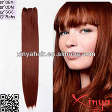 4A Best Quality Hair selling well cheap REMY HUMAN HAIR vivid red weft 350