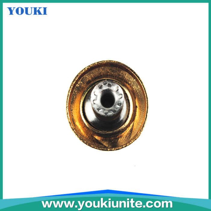 Golden designer metal jean buttons for garments