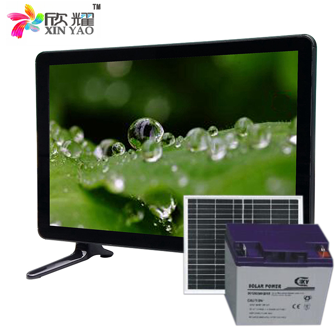 chinese factory solar television 15/17/19 inch dc 12v led tv 5 watt low power tv solar