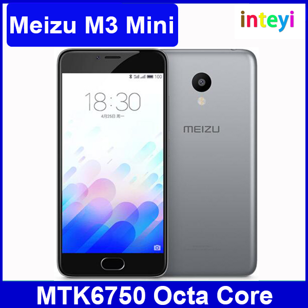 Original 5.0 inch Meizu M3 Mini 4G FDD LTE Smart Phone MTK6750 Octa Core 2GB+16GB Flyme 5.1 Camera 13.0MP+5.0MP