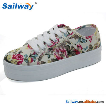 Women's cheap high sole flora shoes