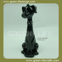 New product porcelain dog indoor decorative statue