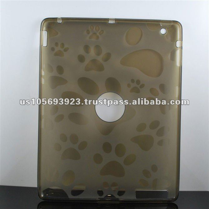 TPU case for Ipad3 with the footprint pattern