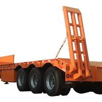 60T Lowboy Semi Trailer For Carrying