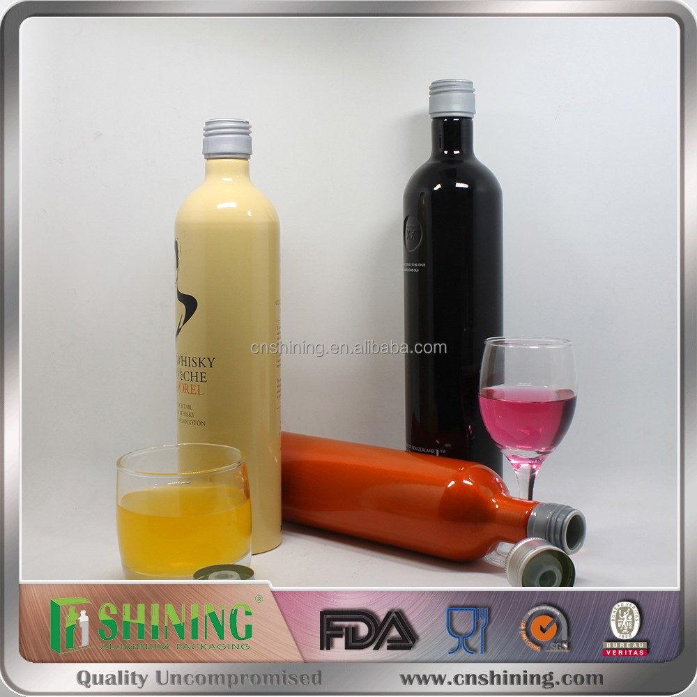 500ml vodka liquor container of aluminum bottle factory