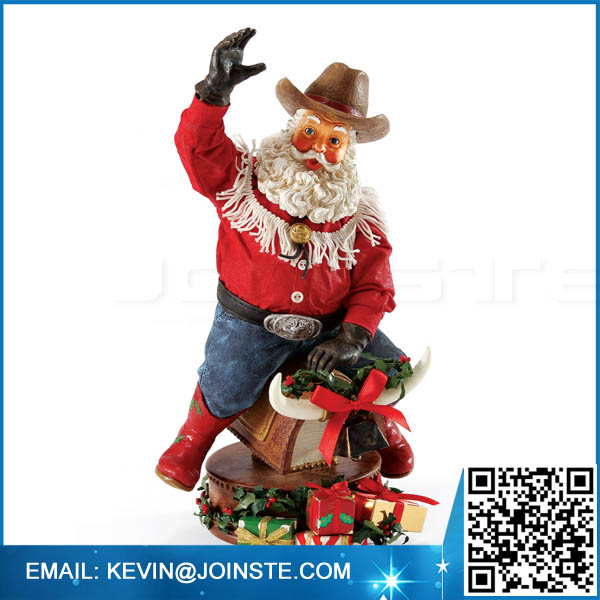 Custom resin cowboy statue,military resin statues