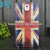 FL2946 2013 Guangzhou hot selling uk flag external battery case for samsung galaxy note 3 n9000