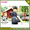 2016 Best selling custom foldable duffel bag canvas leather overnight shoulder bag
