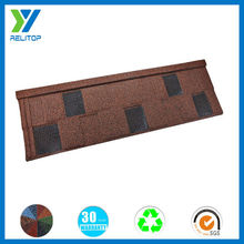 Sand coated flat factory price directly shingle roof tile for Africa
