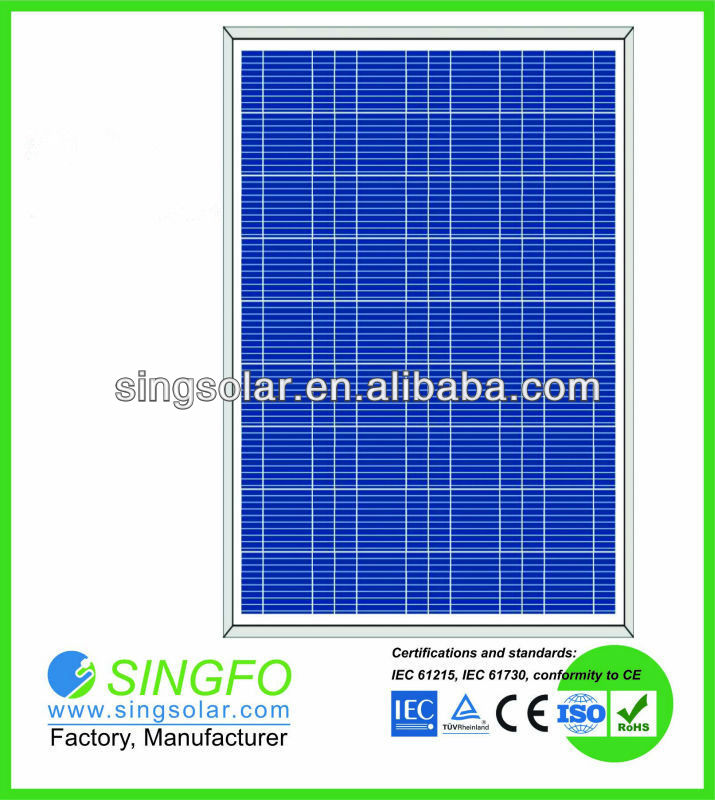 High Power Home Use 80 Watts Polycrystalline Solar Panel