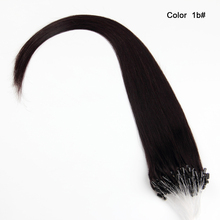 0.8g 1g per strand silky straight black micro ring loop hair extensions dubai