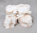 CX-SHOES-07F European Wholesale Genuine Rabbit Fur Baby Shoes