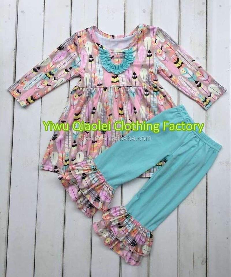 Wholesale Cheap Dress Ruffle Brand Kids Clothing Cotton