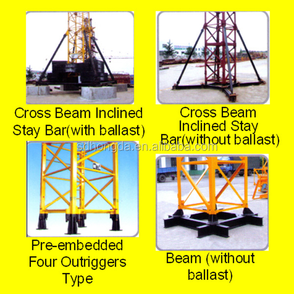 58m boom 1T tip load 6T Building Construction QTZ63F(5810) Favorite Electric Self-raising Tower Crane