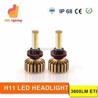 New Design 30w 3600lm led headlight super bright H4 H7 H11 9005 9006 LED car headlight replace HID xenon light