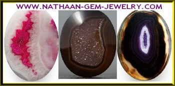 Banded Drusy Agate and Natural Druzy Crystals Gemstones Available in Coated and Dyed Colors at Wholesale Factory Prices