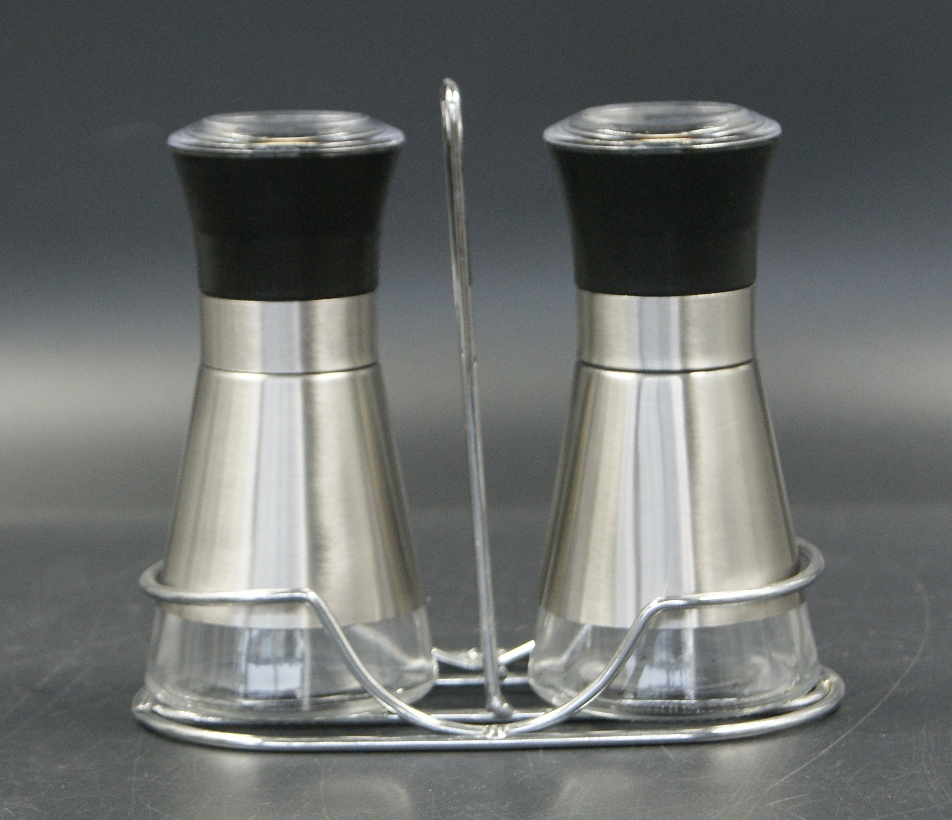 glass spice grinders with metal stand wholesale
