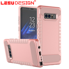 New arrival 2 in 1 PC TPU hybird shockproof carbon fiber phone case for samsung galaxy note 8.0 case
