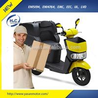 EEC approval 60V/28AH LG lithium battery 3000W adult pizza delivery electric motorcycles with delivery box
