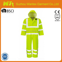 EN471 HiVis Nylon Yellow fluorescent waterproof heated coverall