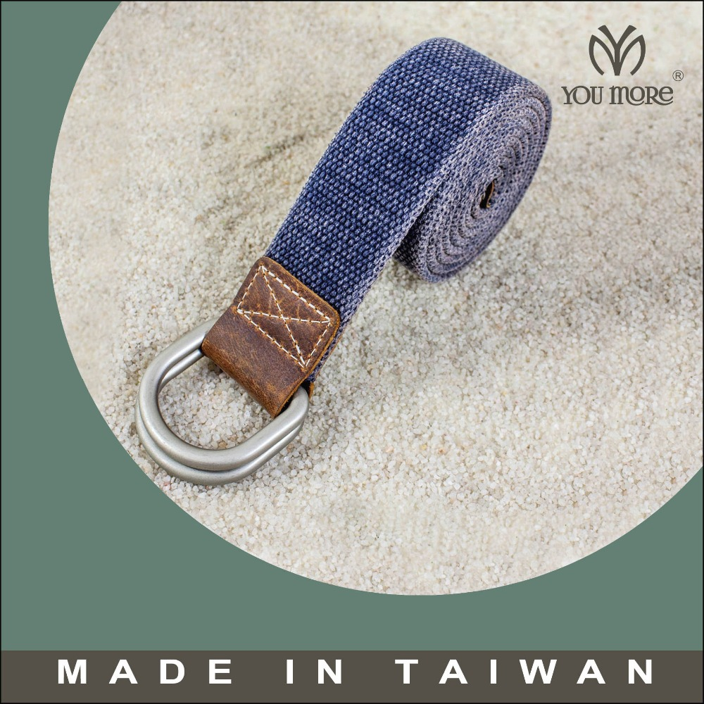 Double D rings cotton webbing belt rolls
