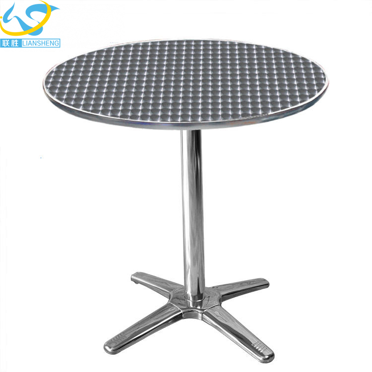 Modern home school canteen aluminum alloy dining table and chair furniture