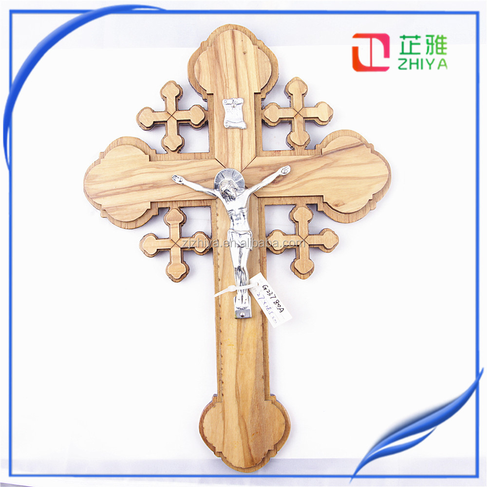 christian art gifts holy cross wood design