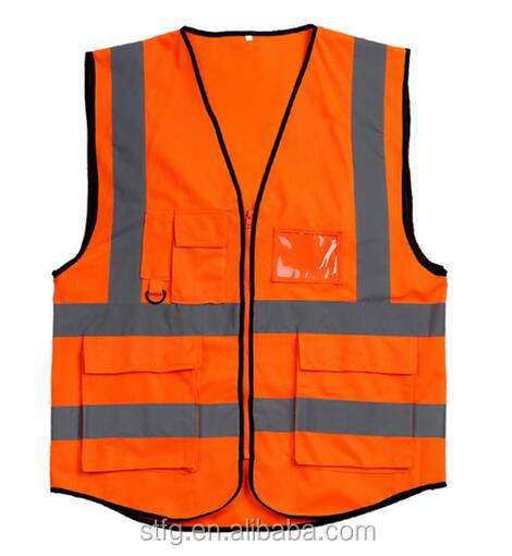 Hi Vis reflective Security work Vest
