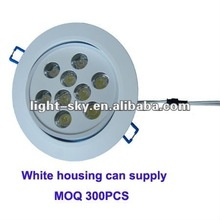 Dimmable high brightness 9W downlight frame
