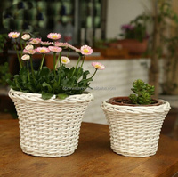 2015 wholesale wicker flower wickerwork vase