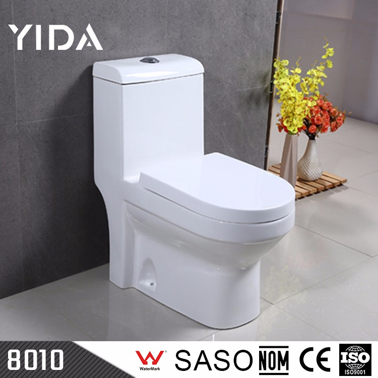 One piece western style ceramic colored wc bowl toilet