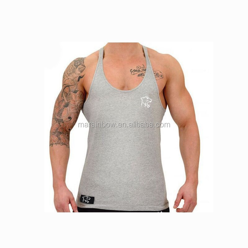 Professional cotton men's fitness athletic muscle sports running tank top ,gym singlets Y back stringer tank tops wholesale
