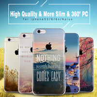 High Quality the Latest Slim Full Protector Cover Case For Apple iPhone 5s 6 6s plus