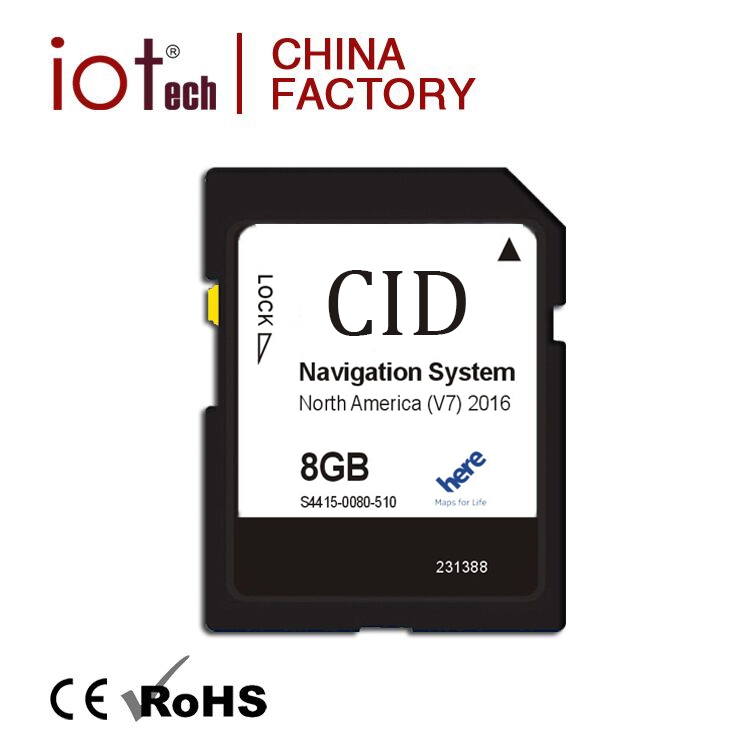 Changeable CID Clone GPS Maps for windows ce sd card