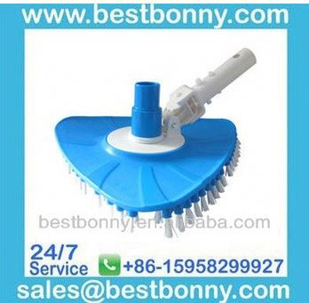Swimming pool flexible triangular vacuum head brush with EZ Clip Handle, Vaccum Cleaner