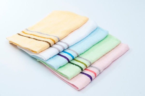 W8 100% Cotton Stripe Border Hand Towel
