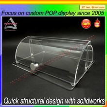 customize clear acrylic case small cake door desktop display stand